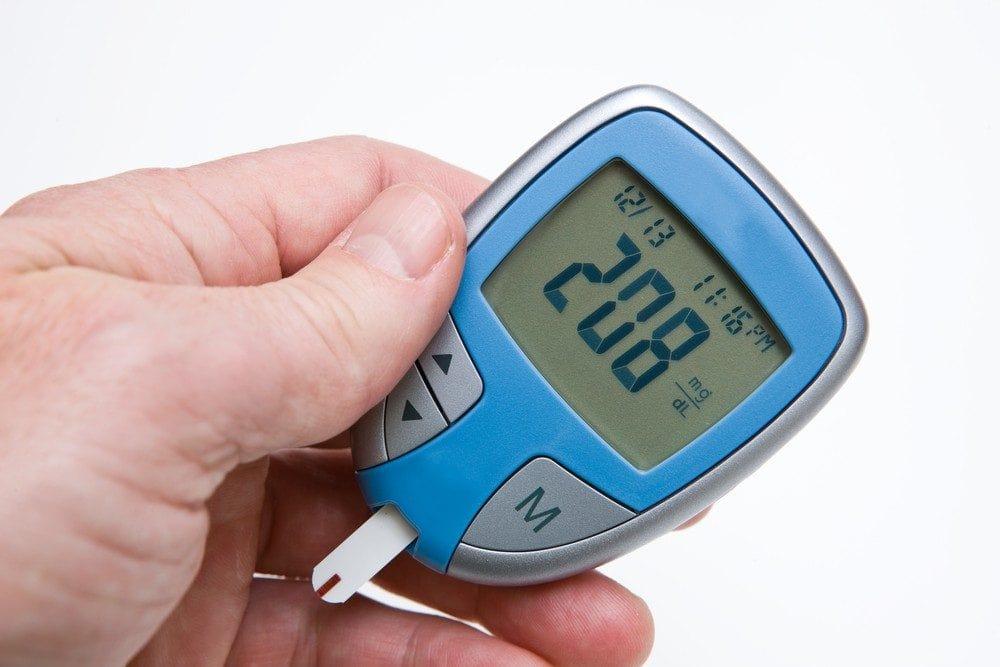 Marcador mostrando glicose alta